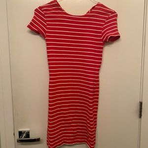 Knit stripe bodycon dress